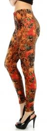 wholesale B07 Tiger/leopard velour leggings S