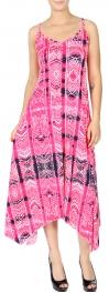 Wholesale K24A Tribal stripes print handkerchief dress BLUE