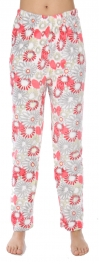 Wholesale U08 Pajama pants Flowers Grey